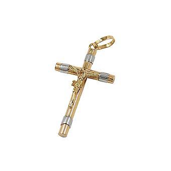 Anhänger Kruzifix 25mm Zweiton 9k Gold