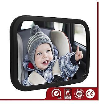 Rücksitzspiegel für Babys mit 2 Montageoptionen /Kopfstütze oder Heckscheibe. Spiegelfläche von 155 x 99 mm speziell für Babytrage