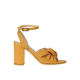 Guglielmo Rotta Ezgl576003 Women's Yellow Leather Sandals