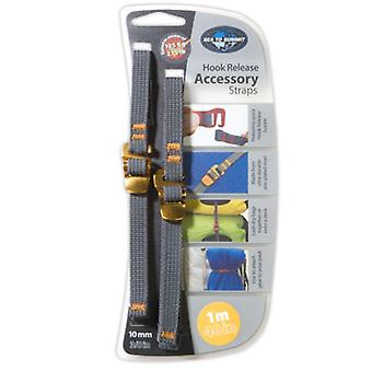 Sea to Summit Hook Release Accessory Straps 10mm/1m (Grey/Yellow) - 1m