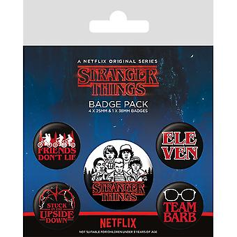 Stranger Things Character Badge Set (Pack de 5)