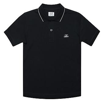 Boy's C.P. Company Junior Getipt Polo Shirt in Blauw