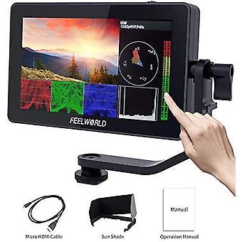 Feelworld f6 plus 5.5 polegadas dslr no monitor de campo da câmera monitor touch screen 3d lut pequeno full hd 1920x1080