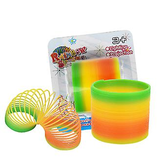 Spring Rainbow Ring Magic Set,stress Toy, 2 Pack