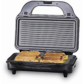 Tower T27020 3-in-1 Grill, Sandwich and Waffle Maker with Non-Stick,Aluminium, 900 W, Silver/Black