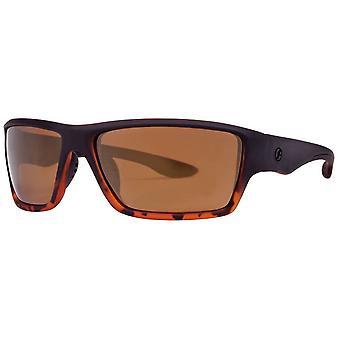 Freedom Rectangular Sport Wrap Sunglasses - Tortoise Shell Brown/Black