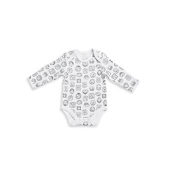 The Essential One Baby Long Sleeve White Body Suit