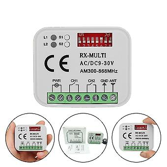 Universal Multi-frequency Ac/dc9-30v 300-900mhz Gate Control Receiver