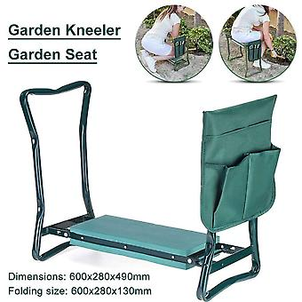 Folding Garden Stool With Eva Kneeling Pad