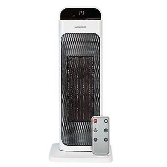 Monhouse przenośny nagrzewnica wentylatora - ptc ceramiczna wieża grzejnik elektryczny 22 cali z kontrolą termiczną 15-35 stopni celsjusza i timer do 12 godzin