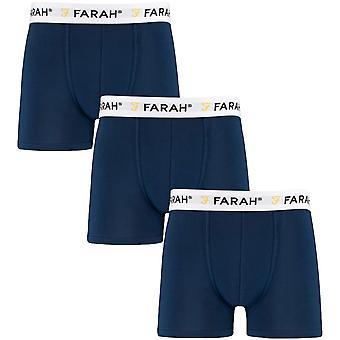3 paquetes Farah mens hamill ropa interior elástica calzoncillos calzoncillos calzoncillos - azul