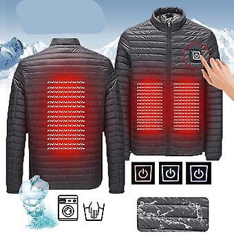 Windproof Winter Pocket Electric Vest Heated Temperature Snowbord Jacket