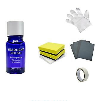 High Density Headlight Polish Liquid, Sponge, Cloth-car Repairing Kit