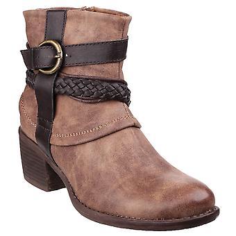 Divaz Vado Womens Ankle Boots Tan UK Size