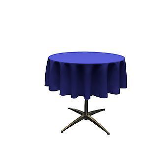La Leinen Polyester Poplin Tischdecke 51-Zoll rund, Königsblau