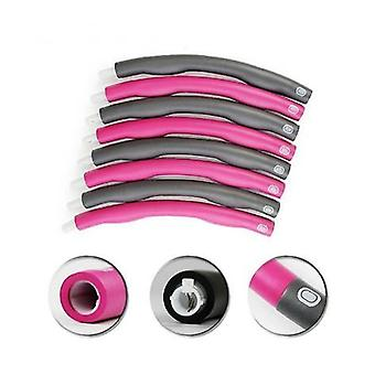 Pink/grey 1kg Weighted Abdominal Exerciser Gym Fitness Hula Hoop Core Strength