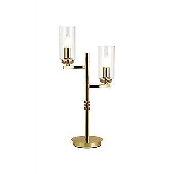 Lámpara De Sobremesa Contri 2 Bombillas Oro Pulido 123,7 Cm