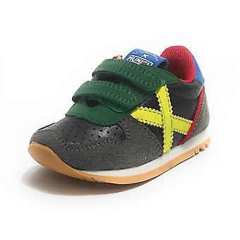 Shoes Baby Munich Baby Massana Sneaker With Grey Suede Strap/ Multicolor Z21mu13