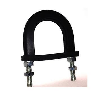 Light Duty Anti-vibration Rubber Lined U-bolt  49 Mm Id (suit 40 Mm Nb Pipe) - Bzp