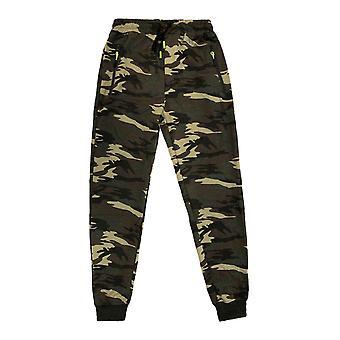 Pantalon d'entraînement sport homme Stretch Waistband Slim Jogger Pantalon Zip Pocket