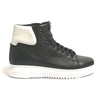 Unisex Tony Wild Sneaker High Black Leather/ White U19tw05