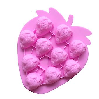 Fruit Silicone Strawberry Ice Tray Diy Baking Chocolate Cold Hand-made Soap Aromatherapy Mold