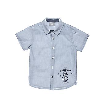 Alouette Boys' Shirt With Striped Print And Star Button