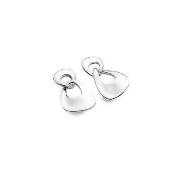 Sterling Silver Earrings - Origins Linked Organic Rippled Shapes