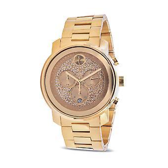 Movado Bold Metals Chronograph Gold-Tone Mens Watch 3600667