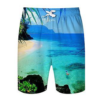Allthemen Men's Hawaiian Style Vacation T-shirt 2-piece Set