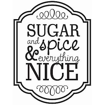 Hampton Art Wood Mounted Stamp - Sugar and Spice