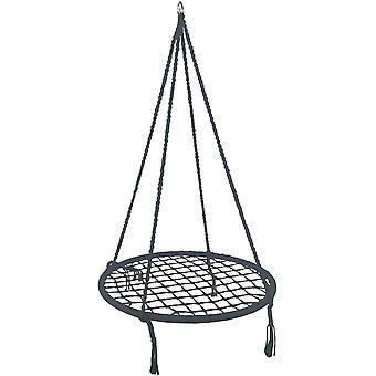 Wiszące krzesło bawełna - Huśtawka gniazda - 80 cm - Szary