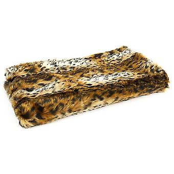 plaid animal 48 x 48 cm textile brown
