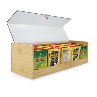 Caja de almacenamiento de té de bambú   M&W