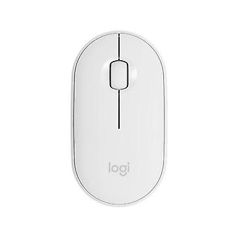 Wireless Bluetooth Mouse cute Portable Mice(white)