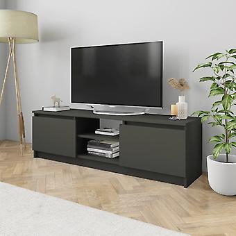 vidaXL armoire tv gris 120×30×35,5 cm panneau de particules