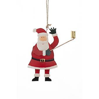 Santa Selfie Stick Christmas Decoration