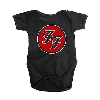 Foo Fighters Baby Grow FF Band Logo new Official Black 0 to 24 Months