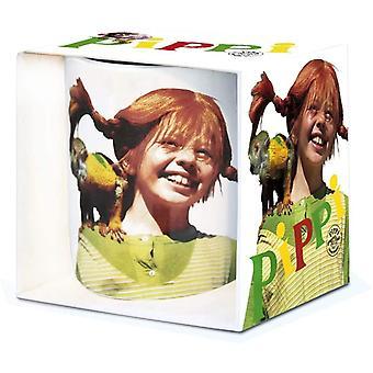 Wokex - Kinderheldin - Pippi Langstrumpf - Herr Nilsson - Porzellan Tasse - Kaffeebecher - farbig -