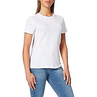 Endast ONLBONE Life Reg S/S Top Box Jrs T-Shirt, Bright White/AOP: Palms, S Woman