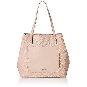 TOUS L. Mossaic, Shopper and women's crossbody bag, 18.5 x 28 x 30 cm (width x height x depth). Rosa Size: Ref. 8433513828847