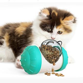 Multi Use Kitten Cat Supplies Rocking Bear Food Leakage Toy Dog Toys Pet Accessories Food(blue)