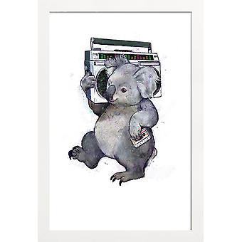 JUNIQE Print -  Koala - Koalas Poster in Grau
