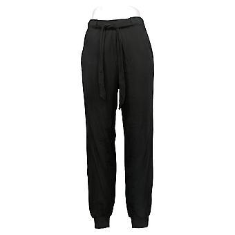 Nogen kvinders bukser ST Tall Hyggelig Strik Jogger Sort A372091