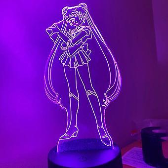 Sailor Moon led yövalo makuuhuone sisustus