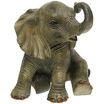 Fuera de África Sentado Elefante Figurilla Animal Ornamento