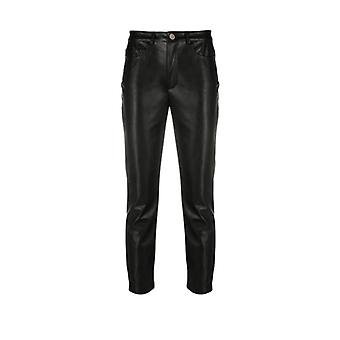 Pinko Susan 14 Skinny Fit Black Faux Leather Trousers