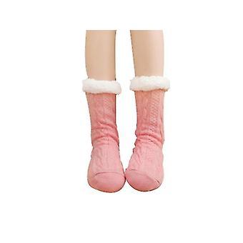 מחממי מחמם רגליים ורודים לגרביים רכות לנשים x2755
