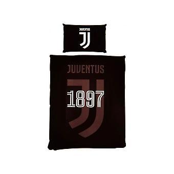 Juventus Mono Enkeltäcke och Örngott Set