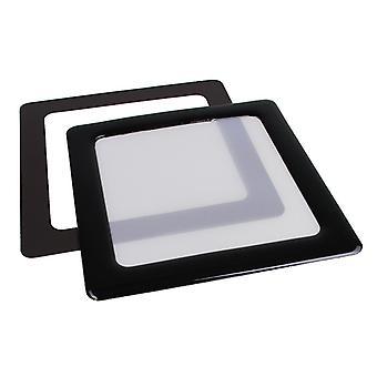 DEMCiflex Staubfilter 80mm Quadrat - Schwarz/Weiß